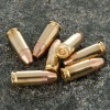 Close up of the 123gr on the 50 Rounds of 123gr FMJTCEB 9mm Ammo by Fiocchi