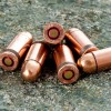 View of LVE .380 ACP ammo rounds
