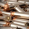 Close up of the 125gr on the 50 Rounds of 125gr FMJ .38 Spl Ammo by M.B.I.