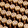 Close up of the 55gr on the 1000 Rounds of 55gr FMJ .223 Ammo by Federal