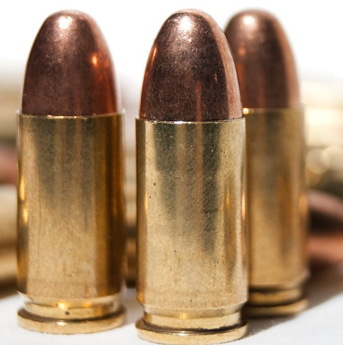 9mm ammunition loaded in magazines