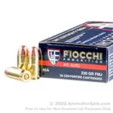 1000 Rounds of 230gr FMJ .45 ACP Ammo by Fiocchi image