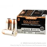 20 Rounds of 230gr JHP .45 ACP Ammo by Speer image