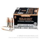 20 Rounds of 147gr JHP 9mm Ammo by Speer image